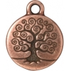 Charm Tree Of Life 15mm Antique Copper